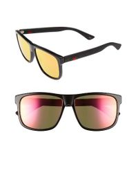 Gucci | Black 58mm Polarized Sunglasses | Lyst