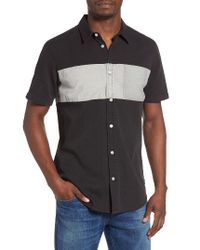 RVCA - Black That'll Do Mix Woven Shirt for Men - Lyst