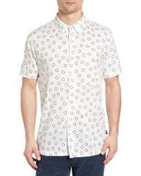 RVCA | White Ring Print Woven Shirt for Men | Lyst