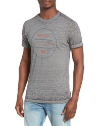 RVCA - Gray Perimeter Graphic T-shirt for Men - Lyst