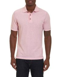 Robert Graham | Pink Messenger Pique Polo for Men | Lyst