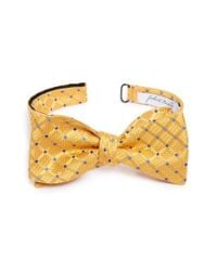 John W. Nordstrom | Yellow John W. Nordstrom Grid Silk Bow Tie for Men | Lyst