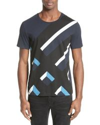 Burberry Blue Wilmore Graphic T-shirt for men