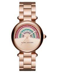 Marc By Marc Jacobs | Metallic Marc Jacobs Dotty Crystal Bracelet Watch | Lyst