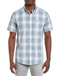Hurley - Blue Steinbeck Dri-fit Plaid Shirt for Men - Lyst