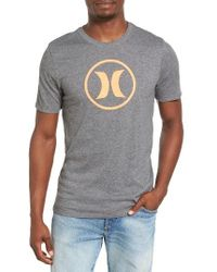 Hurley | Gray Circle Icon Dri-fit T-shirt for Men | Lyst