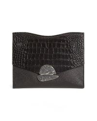 Proenza Schouler | Black Medium Curl Leather Clutch | Lyst