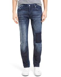 French Connection | Blue Snakeboard Patched Slim Fit Jeans for Men | Lyst