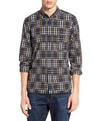 French Connection | Black Slim Fit Ikat Check Sport Shirt for Men | Lyst