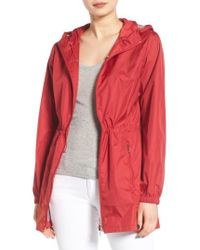 Calvin Klein | Packable Rain Jacket, Red | Lyst