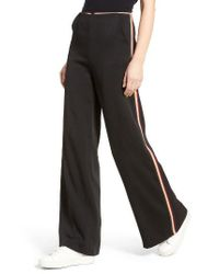 Line & Dot - Black Isabel High Waist Wide Leg Pants - Lyst
