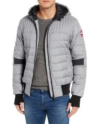 Canada Goose | Gray Cabri Hooded Down Jacket for Men | Lyst