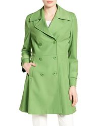 Trina Turk - Green Rosemarie Skirted Trench Coat - Lyst