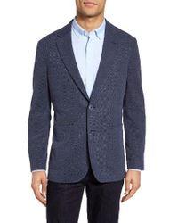 Bugatchi | Blue Knit Sport Coat for Men | Lyst