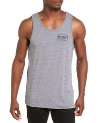 Brixton   Gray Palmer Graphic Tank for Men   Lyst
