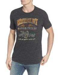 Lucky Brand | Gray Whiskey & Motorcycles T-shirt for Men | Lyst