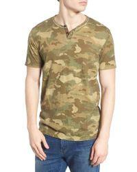 Lucky Brand | Green Camo Print Henley T-shirt for Men | Lyst