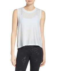 Under Armour | White Breathe Muscle Tee | Lyst
