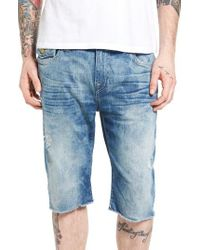 True Religion   Blue Ricky Cutoff Denim Shorts for Men   Lyst