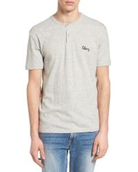 Obey - Gray Assignment Henley for Men - Lyst