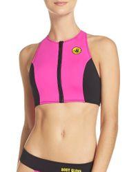 Body Glove | Pink Call Me Zip Bikini Top | Lyst