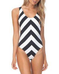 Rip Curl | Black Le Surf One-piece Swimsuit | Lyst