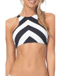 Rip Curl | Black Le Surf Reversible High Neck Bikini Top | Lyst