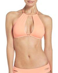 Becca | Multicolor Color Code Halter Bikini Top | Lyst