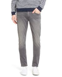 PAIGE - Gray Croft Trascend Skinny Fit Jeans for Men - Lyst