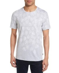 Ted Baker | Gray Montana Leaf Graphic T-shirt for Men | Lyst