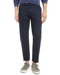 Ted Baker | Blue Exmoor Slim Fit Print Chino Trousers for Men | Lyst