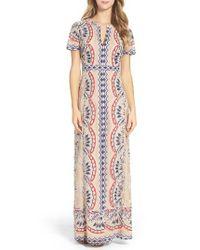 BCBGMAXAZRIA | Multicolor Cailean Burnout Gown | Lyst