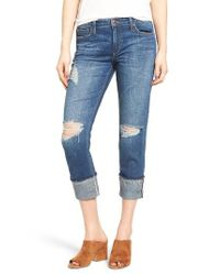 Joe's - Blue Ex-lover Markie Crop Boyfriend Jeans - Lyst