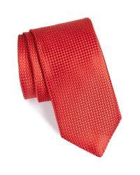 John W. Nordstrom | Red John W. Nordstrom Micro Grid Silk Tie for Men | Lyst