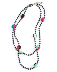 BaubleBar | Blue Guadeloupe Pompom Necklace | Lyst