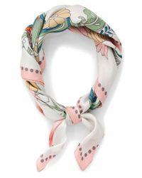 J.Crew | Multicolor Ornate Floral Silk Italian Silk Scarf | Lyst