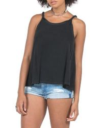 Volcom | Black Twisted Time Tank | Lyst