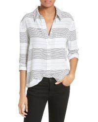 Equipment | Multicolor Reese Stripe Silk Shirt | Lyst