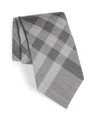 Burberry | Gray Clinton Woven Silk & Wool Tie for Men | Lyst