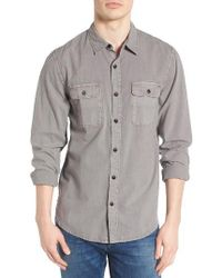 Lucky Brand   Gray Washed Woven Shirt for Men   Lyst