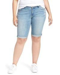 Lucky Brand | Blue Ginger Denim Roll Cuff Bermuda Shorts | Lyst