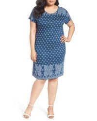 Lucky Brand | Blue Bandana Print T-shirt Dress | Lyst