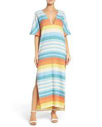 Mara Hoffman | Blue Stripe Cover-up Dress | Lyst