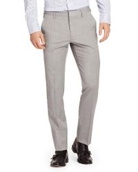 Bonobos | Gray Jetsetter Flat Front Solid Stretch Wool Trousers for Men | Lyst