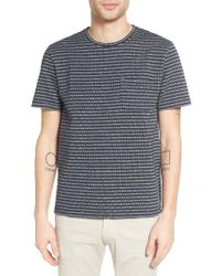 Outerknown | Blue Pagoda Classic Fit Stripe Hemp & Organic Cotton T-shirt for Men | Lyst