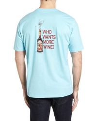 Tommy Bahama | Blue Who Wants More Wine Graphic T-shirt for Men | Lyst