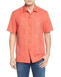 Tommy Bahama   Blue Pacific Floral Silk Camp Shirt for Men   Lyst