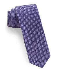 Ted Baker | Purple Square Microdot Silk Tie for Men | Lyst