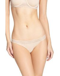 DKNY   Natural Lace Trim Thong   Lyst