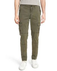 Michael Bastian | Green Garment Dyed Cargo Pants for Men | Lyst